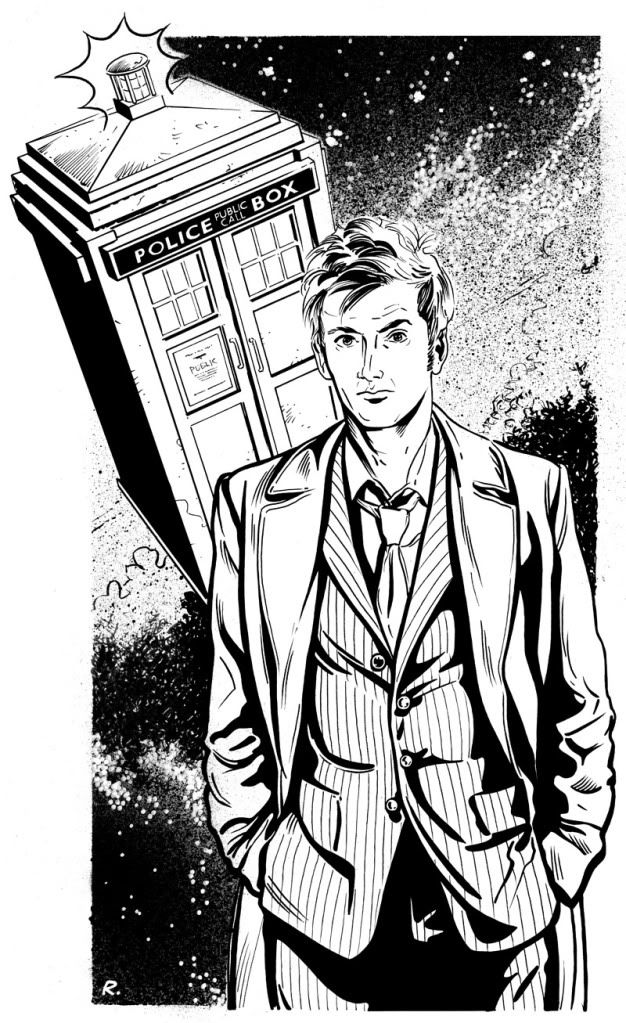 Tenth Doctor Coloring Page (Doctor Who) | Crafts - Oh, well, faint ...
