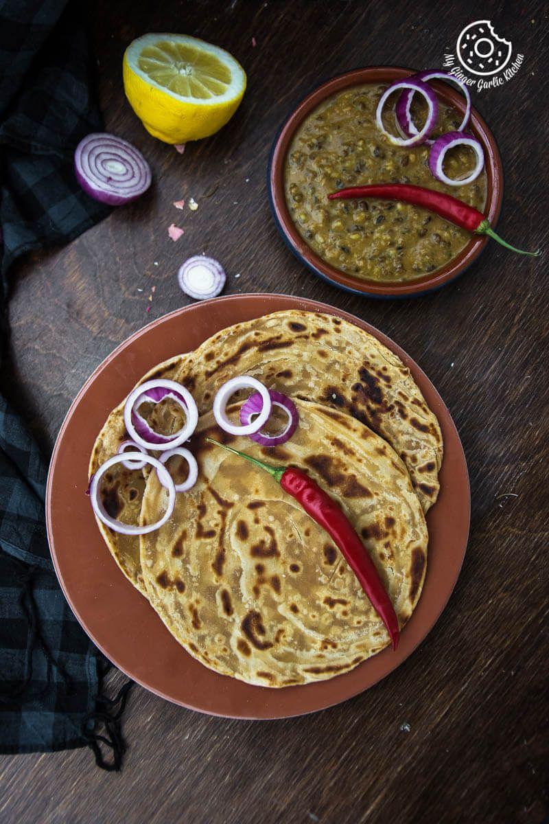lachha paratha 3 ways how to make multi layered paratha recipe paratha paratha recipes on hebbar s kitchen recipes laccha paratha id=80184