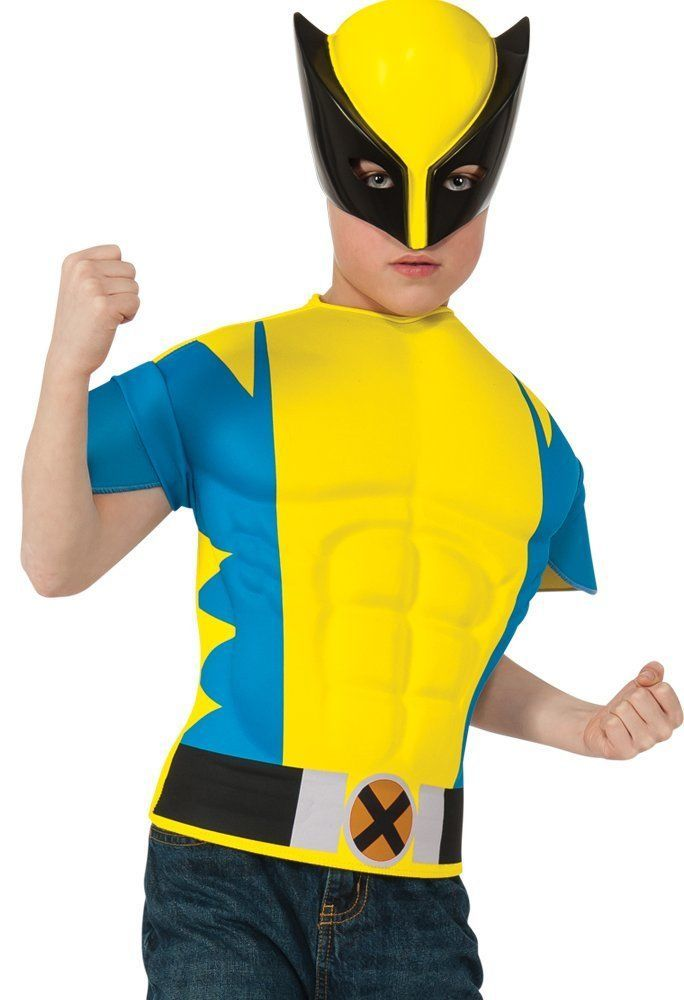 Costumes! Wolverine WannaBe Instant Cosplay Muscle Chest Character Kit Child #TU  sc 1 st  Pinterest & Costumes! Wolverine WannaBe Instant Cosplay Muscle Chest Character ...