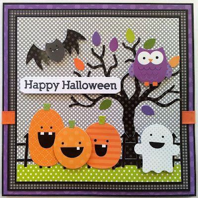 Card Made using Doodlebug Halloween Stickers & Papers. For more info please  see my blog