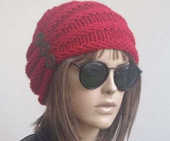 This Knit women hat was made with 25% wool-75%acrylic yarn. Quality yarn.  Great for any hair style d6948ac6e0