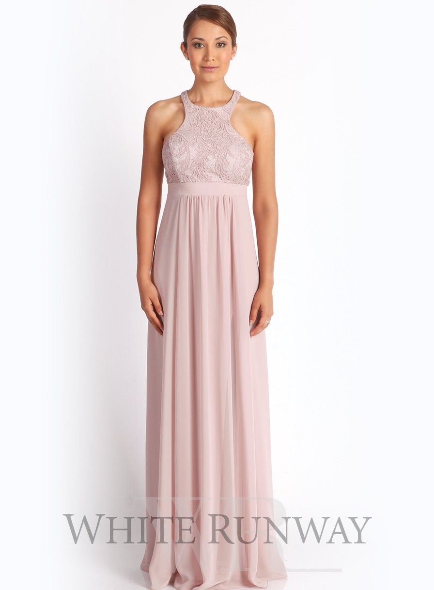 Delta lace dress bridesmaid duties pinterest bridesmaid a beautiful full length dress by designer mr k a flattering style featuring a stunning lace bodice and stretch chiffon skirt ombrellifo Images