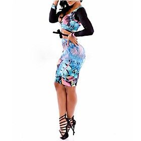 Women's Fashionable Fashion Suit (ShirtSkirt)