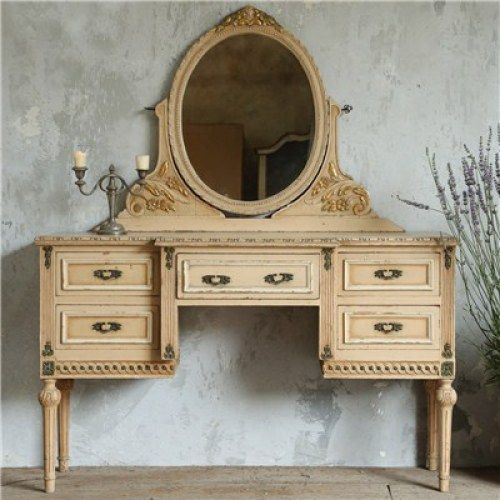 One of a Kind Vintage Vanity Distressed Peach from Chintomby Chintomby  Nasafi Grayce - Experience The Warmth And Character Of An Authentic Vintage Find