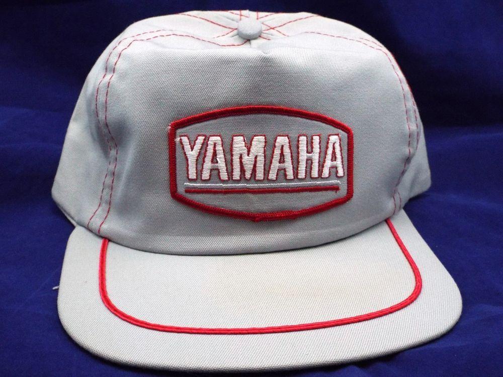 3cb9c3e18ca02 new NOS vtg YAMAHA Grey Trucker snapback Outboards Motocross USA made Hat  Cap  yamaha  Trucker