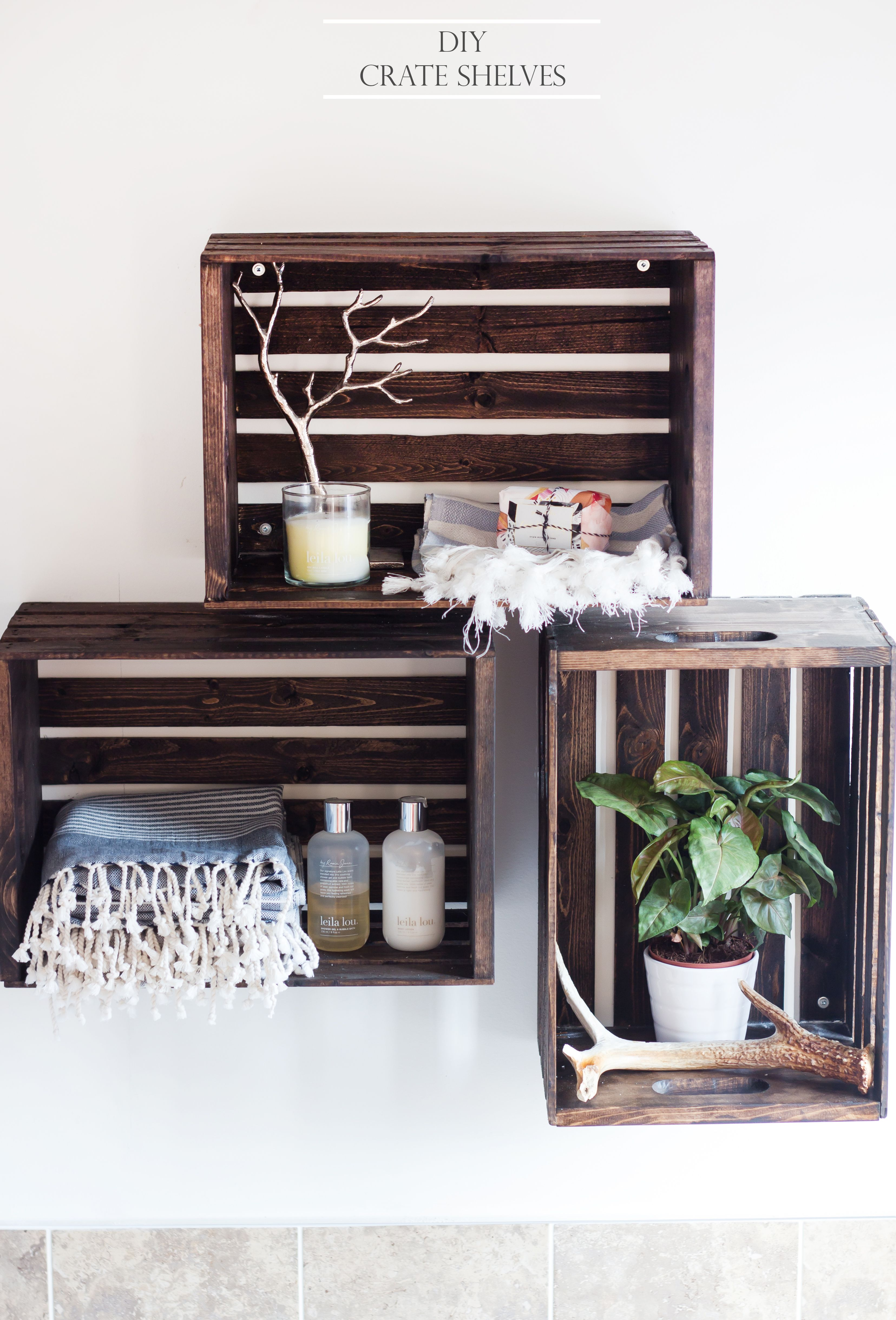 Diy Crate Shelves The Blondielocks Life Style Crate