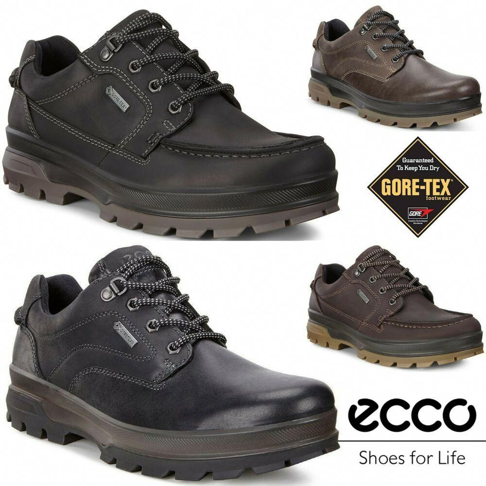 Ecco Rugged Track Gore Tex Full Grain Leather Outdoor All Terrain Hiking Boots Ecco Hikingtrail Hikeboots Sneakers Men Fashion Boots Nubuck Leather