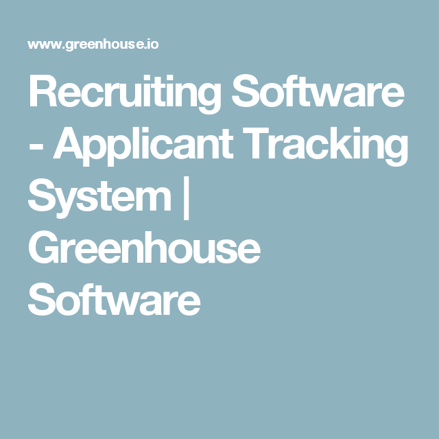 The Resumator Captivating Recruiting Software  Applicant Tracking System  Greenhouse