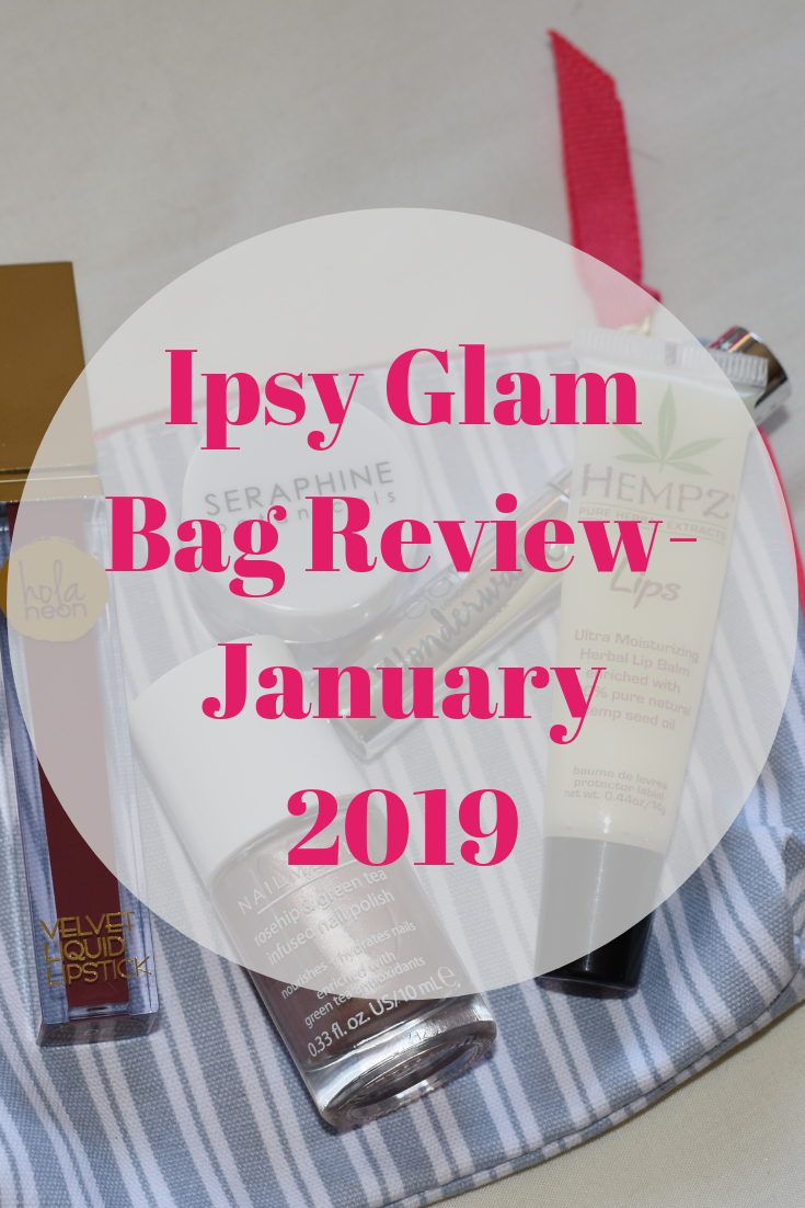 Ipsy Glam Bag Review of January 2019  Is Ipsy worth it? Read