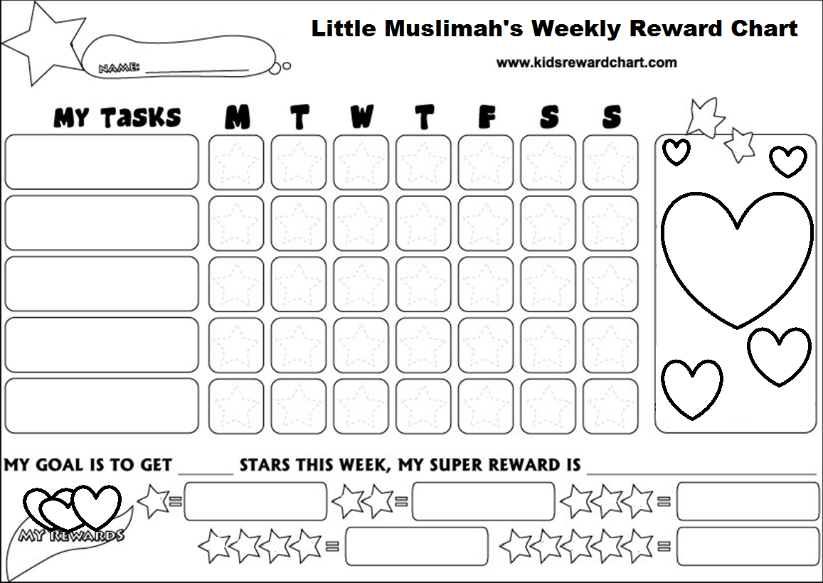 Meticulous Free Printable Reward Star Chart For Kids Star