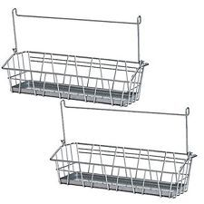 Set of 2 Ikea Steel Wire Basket Spice Rack Hang or Free Standing Kitchen New