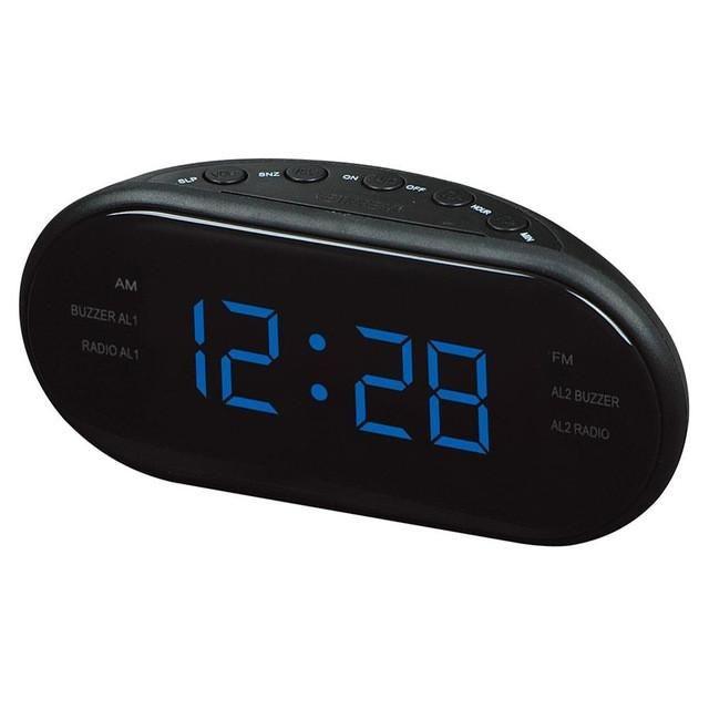 Hometimes Fashion Modern Am Fm Led Clock Radio Electronic Desktop Alarm Digital Table Clocks Snooze