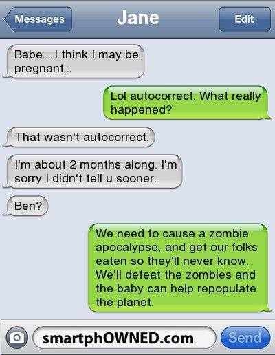 ZOmbie breakouts fix teen pregnancy   Funny   Funny texts ...
