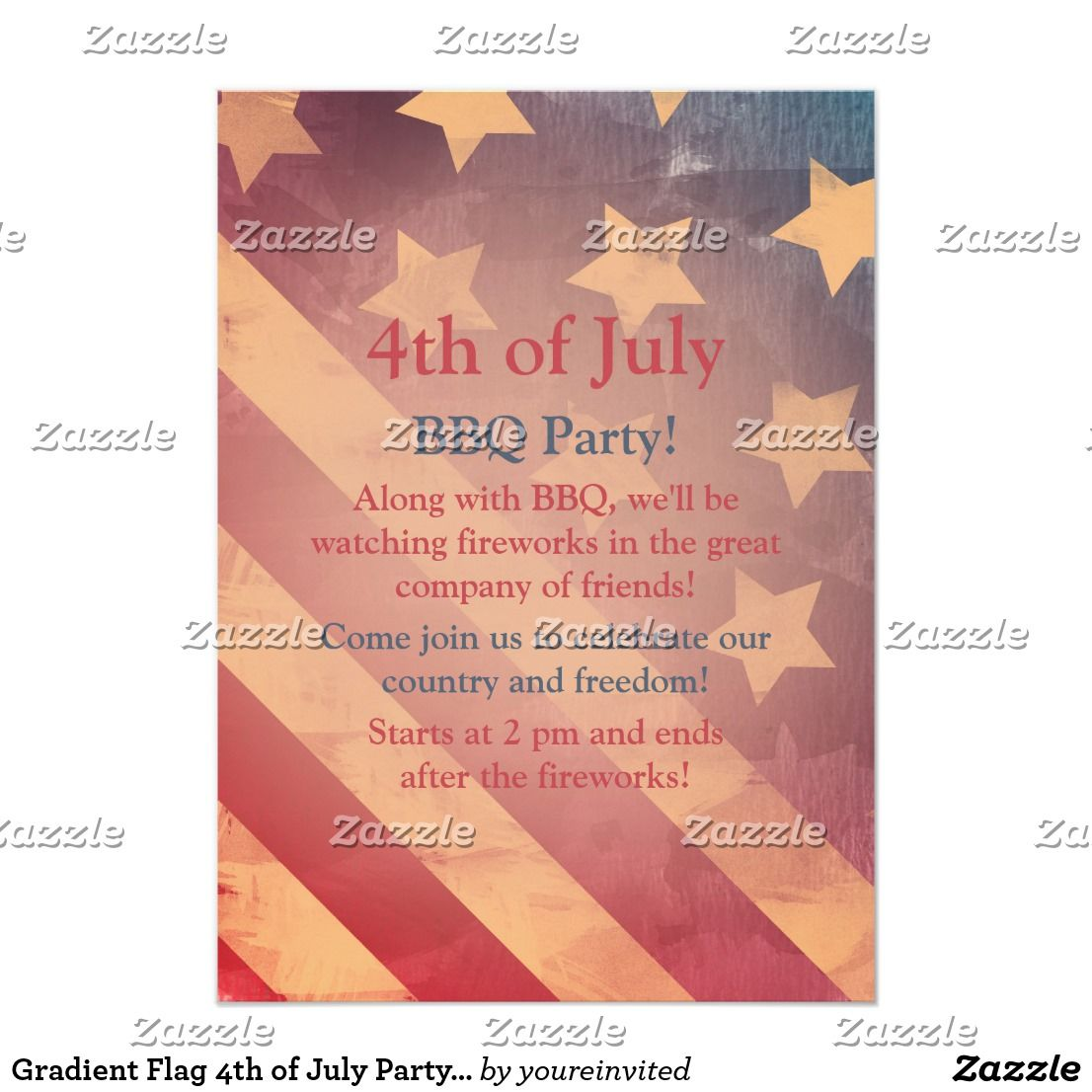 Gradient flag 4th of july party invitation party invitations gradient flag 4th of july party invitation stopboris Images