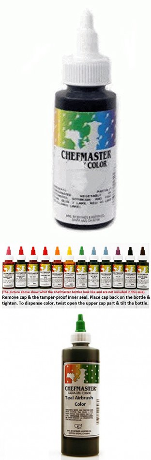 Chefmaster Airbrush Spray Food Color, 9-Ounce, Teal | Food ...