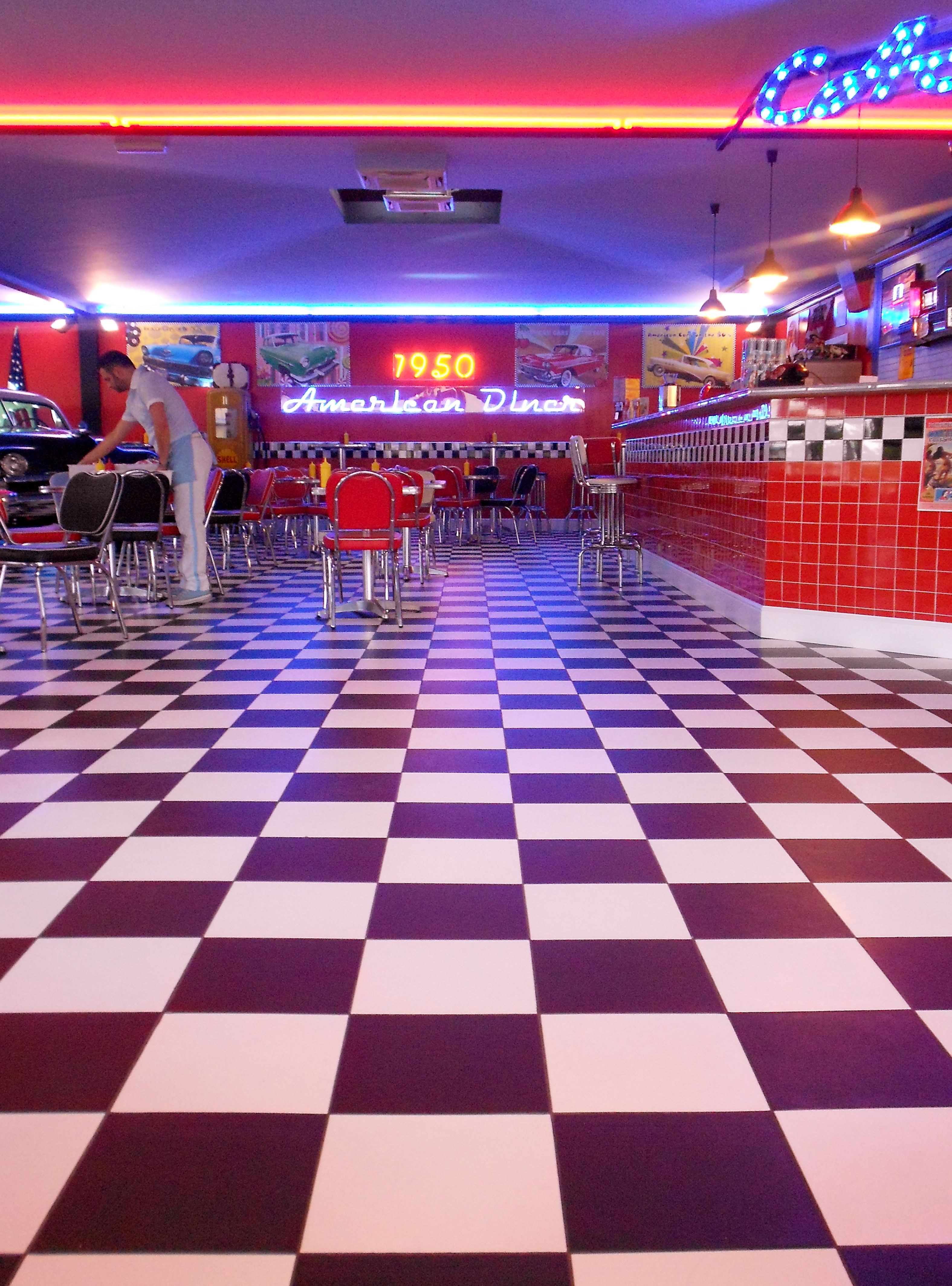 1950\'s American Diner in Florence, no really!