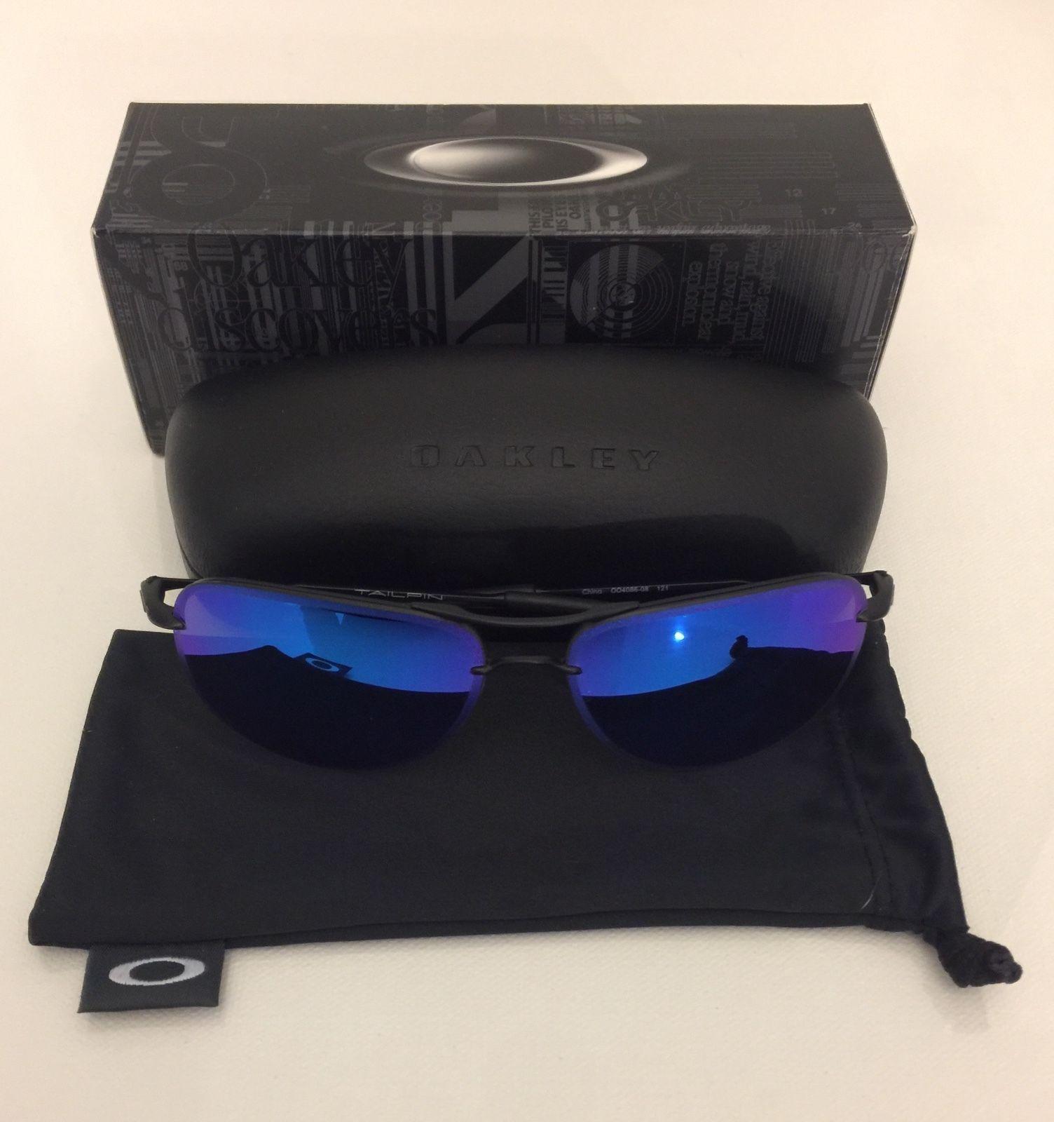 New! Oakley Satin Black TAILPIN Sapphire Iridium Polarized ...