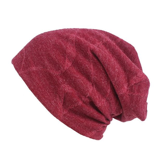 e334f798 US$7,81 - Women Cotton Solid Thicken Beanie Hats Comfortable Multi-function  Scarf Casual Windproof Visor Hats