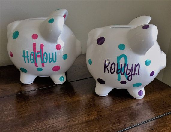 Personalized piggy bank kids piggy bank baby shower gift nephew personalized piggy bank kids piggy bank baby shower gift negle Images