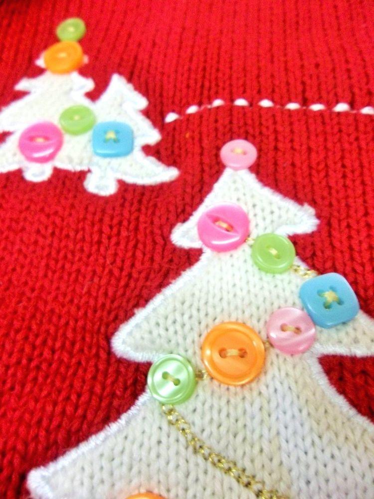 Girls Kids Christmas Sweater Savannah Hood ed Zip Trees Tassel Fringe Medium 5 6 #Savannah #Cardigan #Holiday #Christmas #Sweater