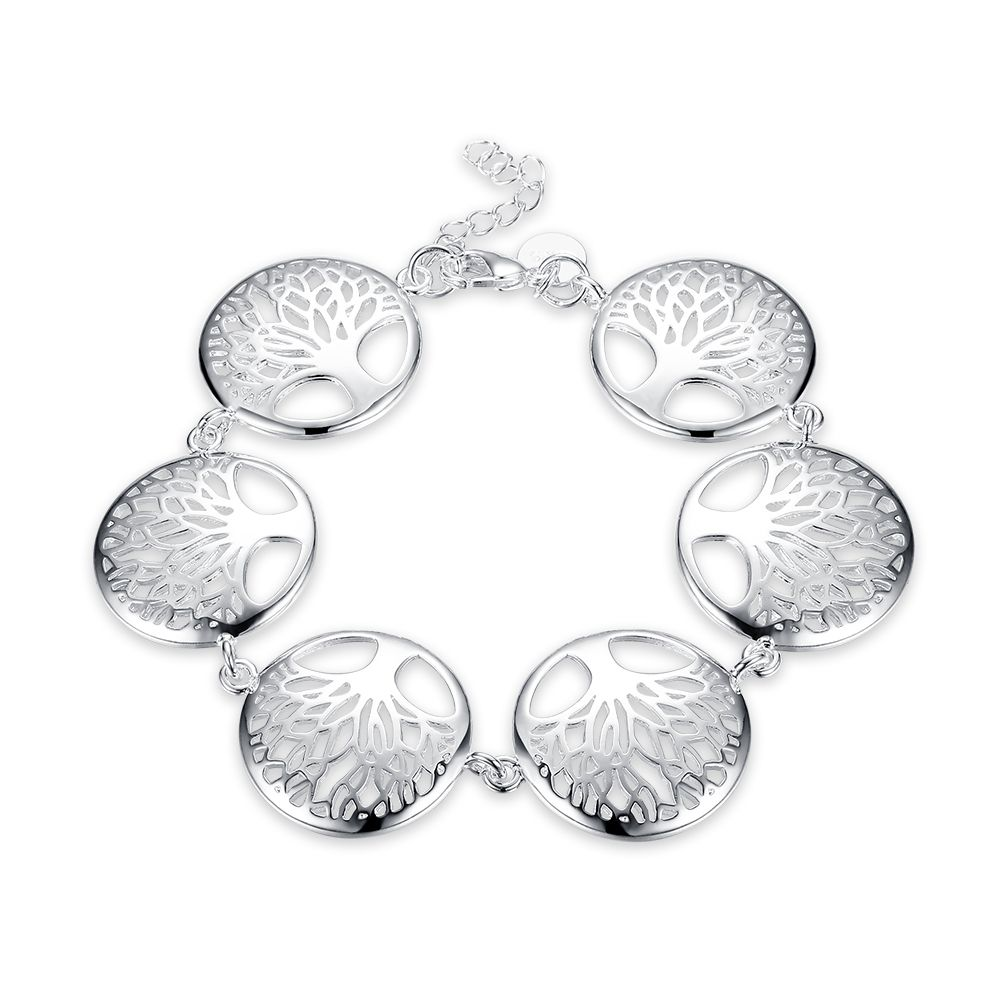 Lsh new fashion women silver the tree of life chain bracelets