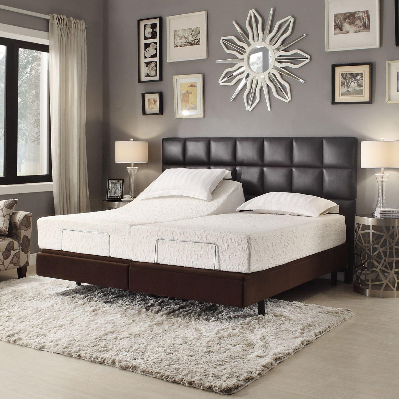 bedroom design brown leather bed