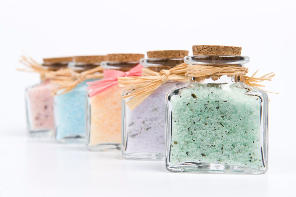All Natural Bath Salt with or without fizzing effect