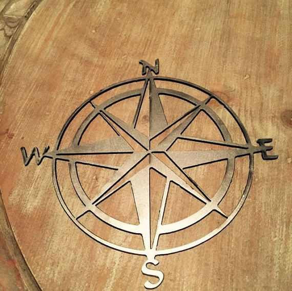 Bare Metal Natutical Compass Wall Decor Home Decor Wall Hanging Art Room  Decor Custom Metal Sign Indoor Outdoor Door Hanger Garden Anchor