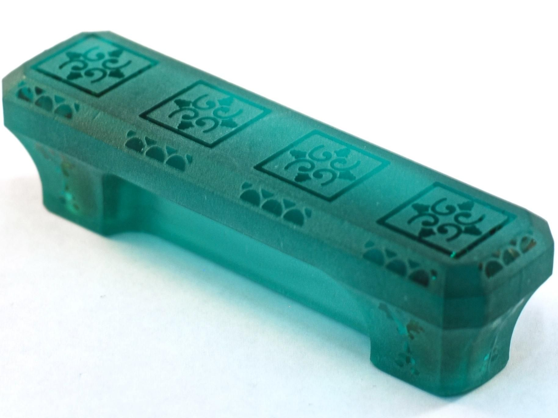 Etched Glass Cabinet Pull in Turquoise by Cal Crystal: $14.40 ...