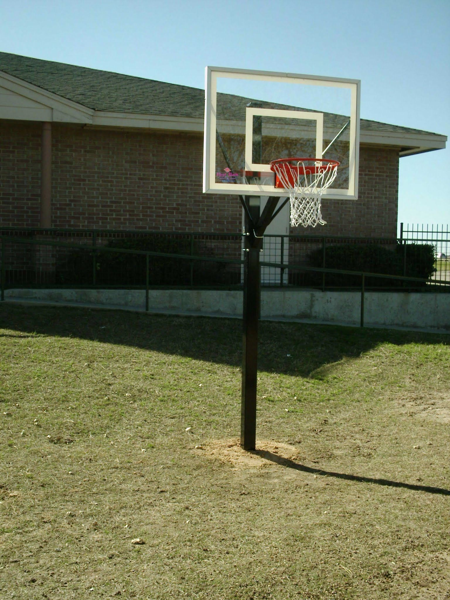 pin by dunrite playgrounds on sport fixed height basketball goal