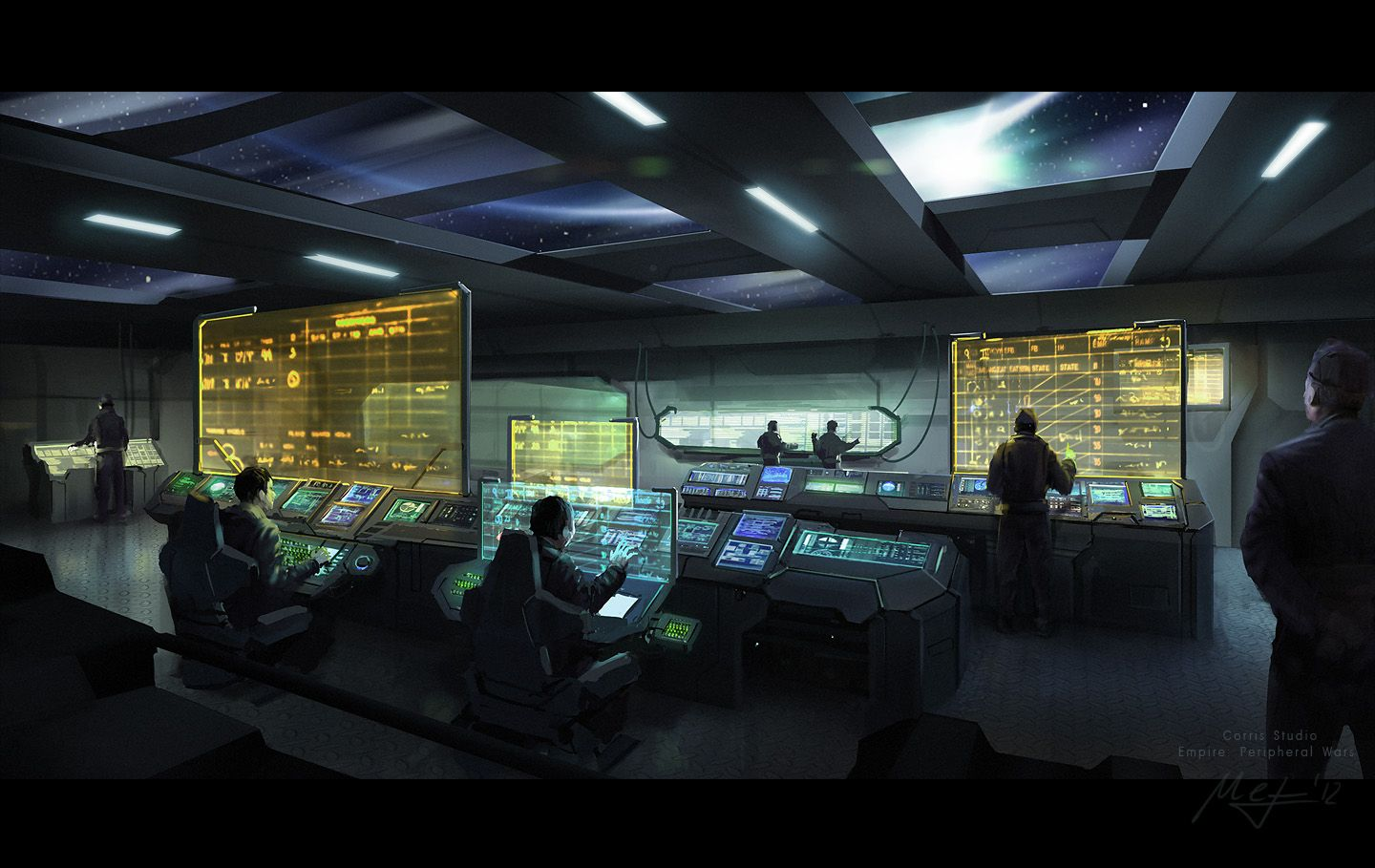 Control room by m3 on deviantart art for Futuristic control room