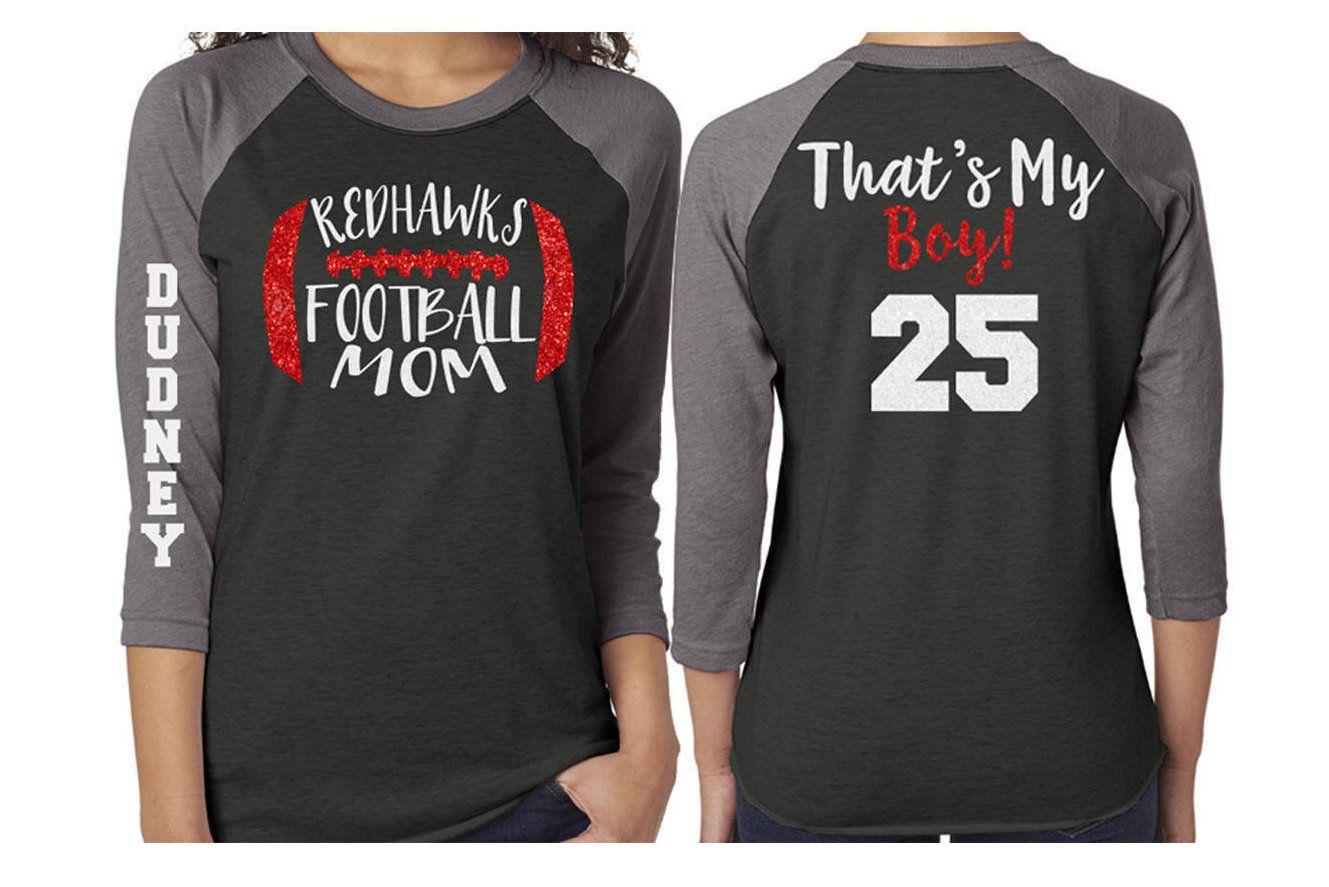 66b308b2 Glitter Mom Football Baseball Shirt 3/4 Sleeve Raglan  Customize with your  Team & Colors by GavinsAllyeDesigns on Etsy
