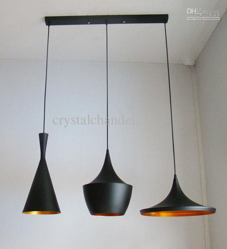 Design By Tom Dixon Pendant Lamp Beat Light *3 Tall And Fat And Wide +