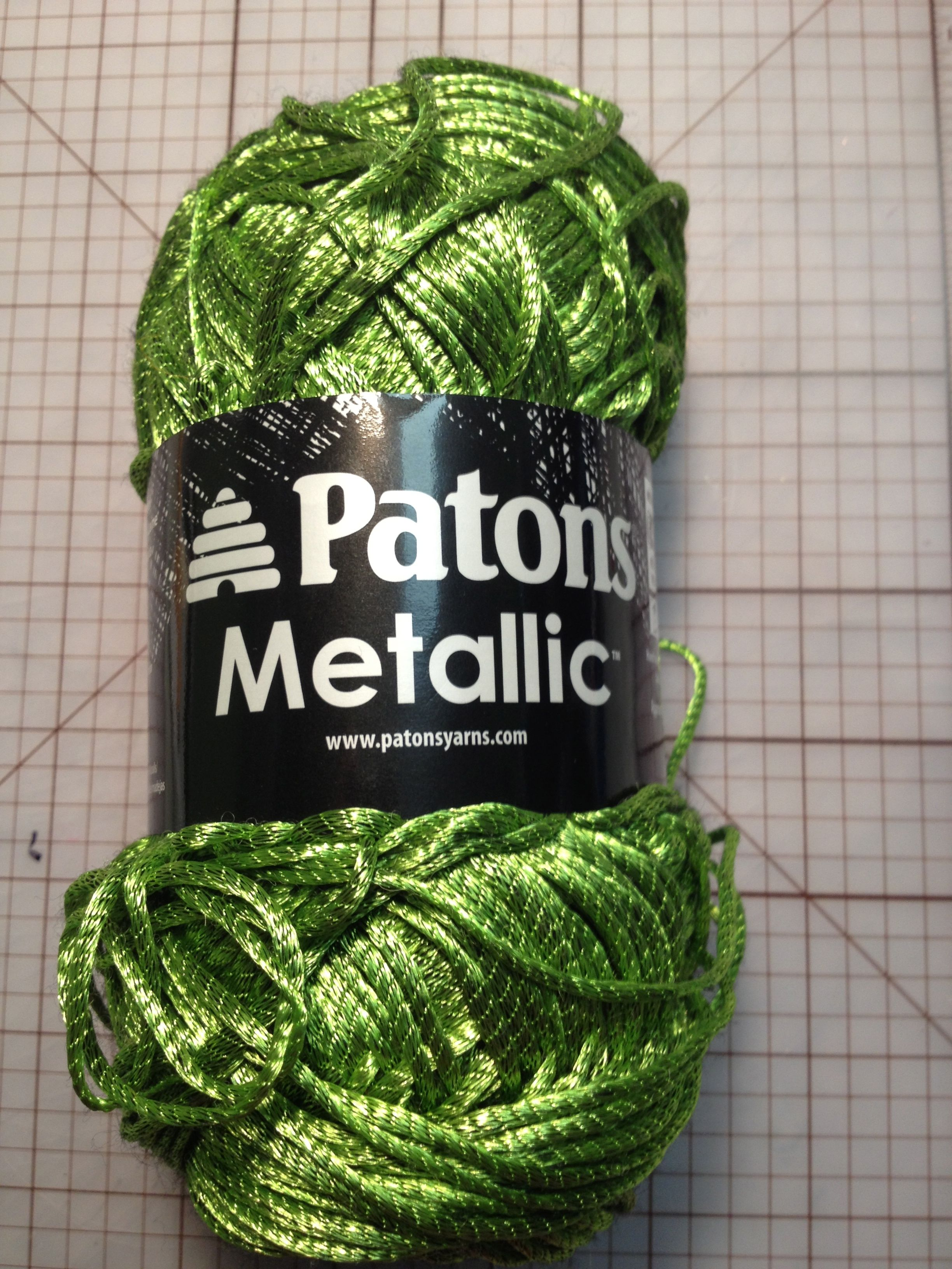 Brand new metallic yarn by Patons that I picked up. This ...