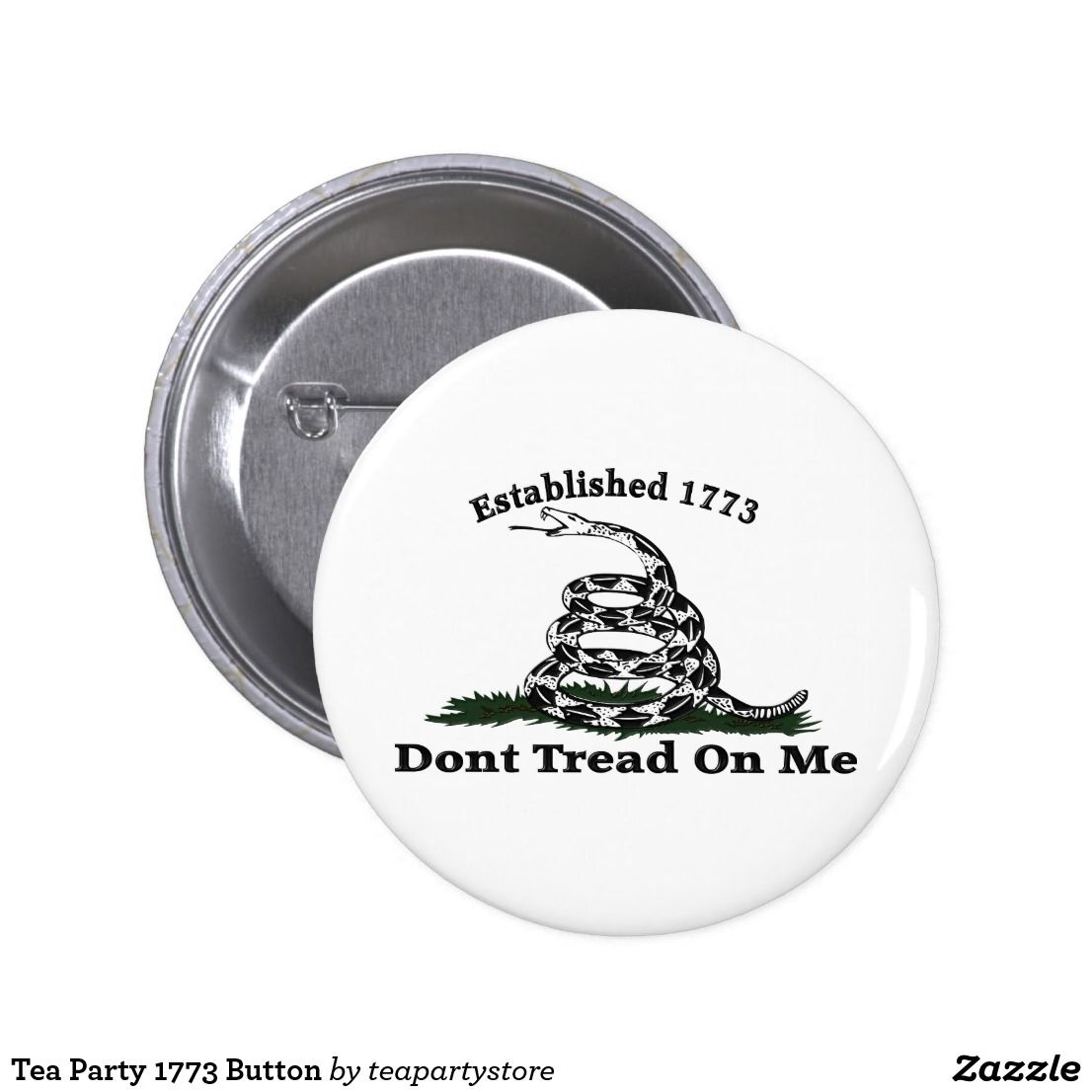 Tea Party 1773 Button