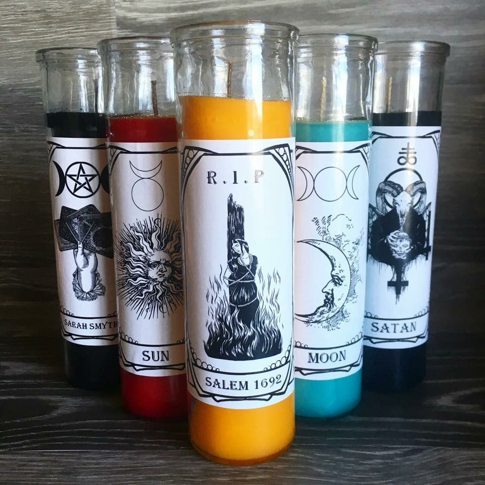 Tarot, alter candle, 7 day candles, @cauldronandco