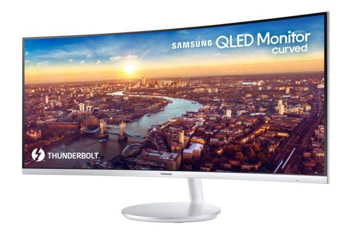 Samsung anuncia un monitor curvo QLED de 34 pulgadas y Thunderbolt 3   Entre lo de LG y esto la competencia que va a tener el monitor profesional de Apple va a ser importante. Samsung ha anunciado un nuevo monitor ultrapanorámico en su gama de 34 pulgadas y con una conexión Thunderbolt 3 para que vaya a la perfección con los Mac más modernos.  Con el nombre de modelo CJ791 este monitor ofrece resoluciones de 3440 x 1440 píxeles. Por lo tanto no podemos hablar de resoluciones retina 4K o 5K…