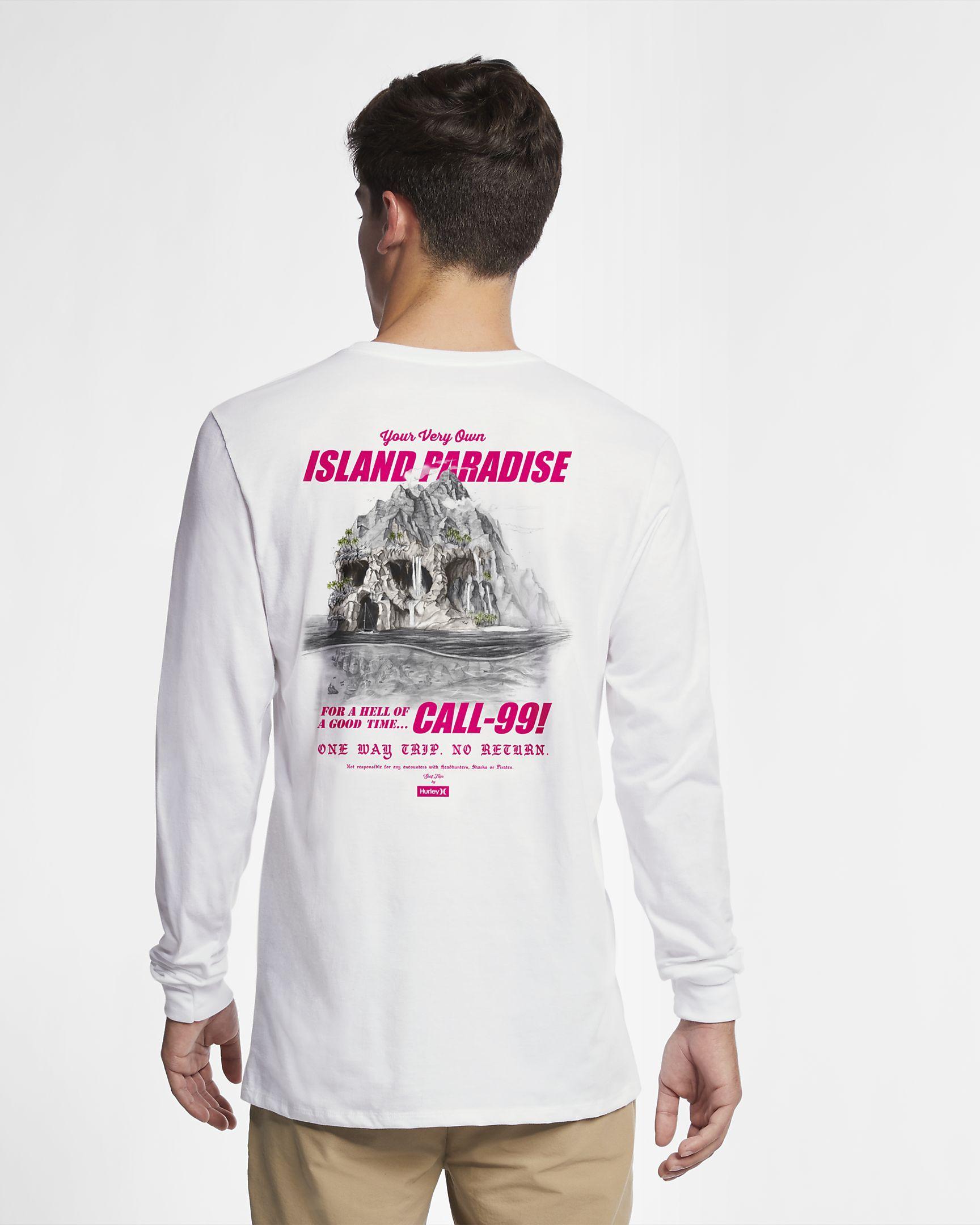 890f0aaf7f984 Hurley Premium Skull Island Men s Long-Sleeve T-Shirt