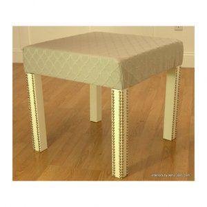 Tavolino Lack Ikea Trasformato In Sgabello Ottomano Soggiorno E