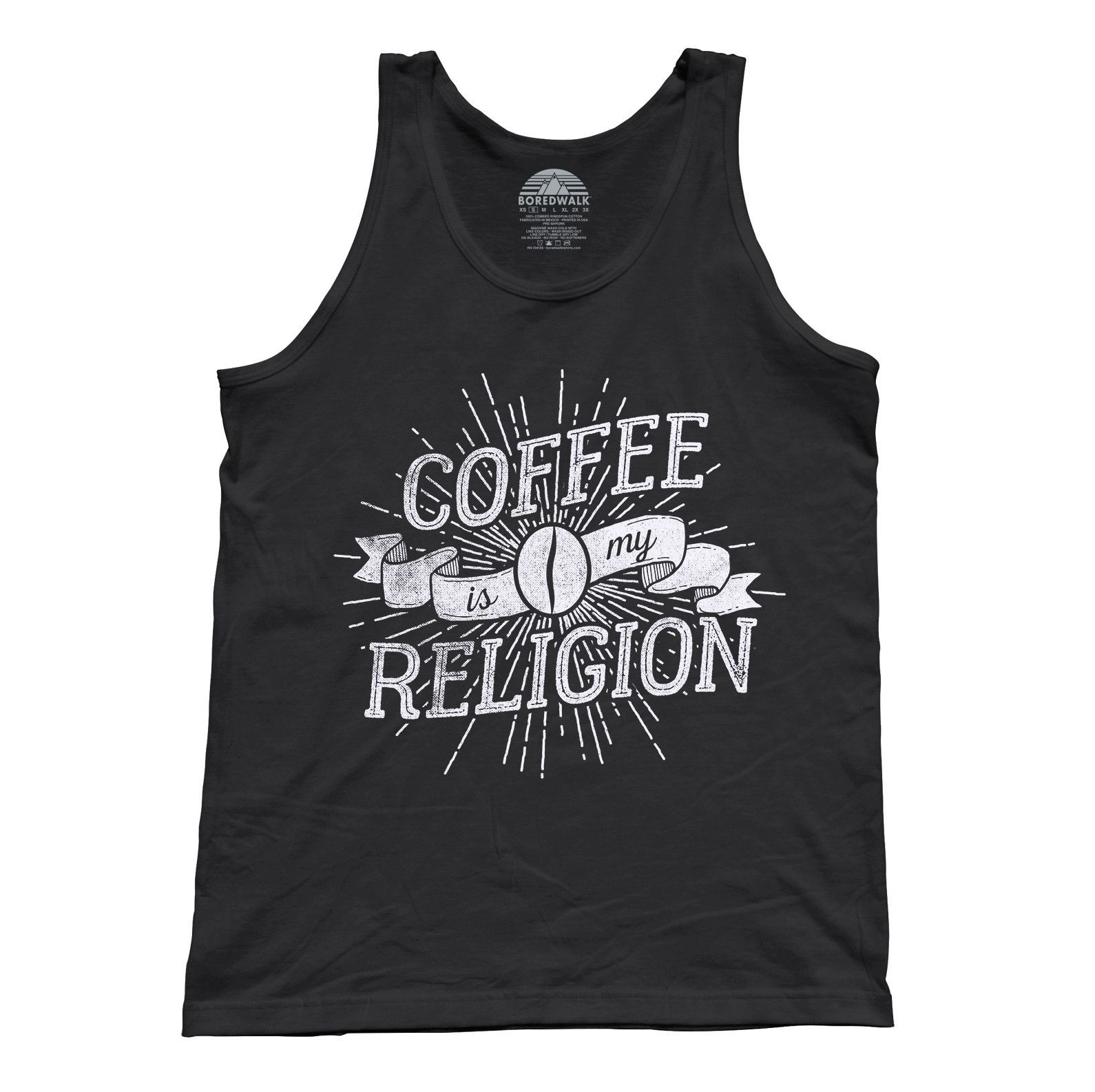 Unisex Coffee Is My Religion Tank Top