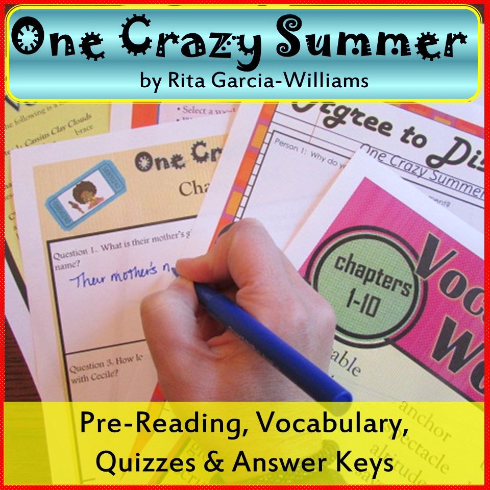 One Crazy Summer Questions And Answers 7685n Alternator Wiring Diagram Bundle Pre Reading Quizzes Vocabulary Tpt Rh Pinterest Co Uk Rita Williams Garcia Movie