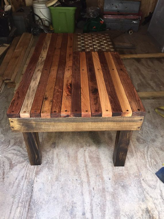 American Flag Coffee Table Flags Coffee And Etsy