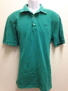 81fc6d53092bd Lacoste Vintage Washed Devanlay Mens Green Cotton s s Polo Shirt US ...