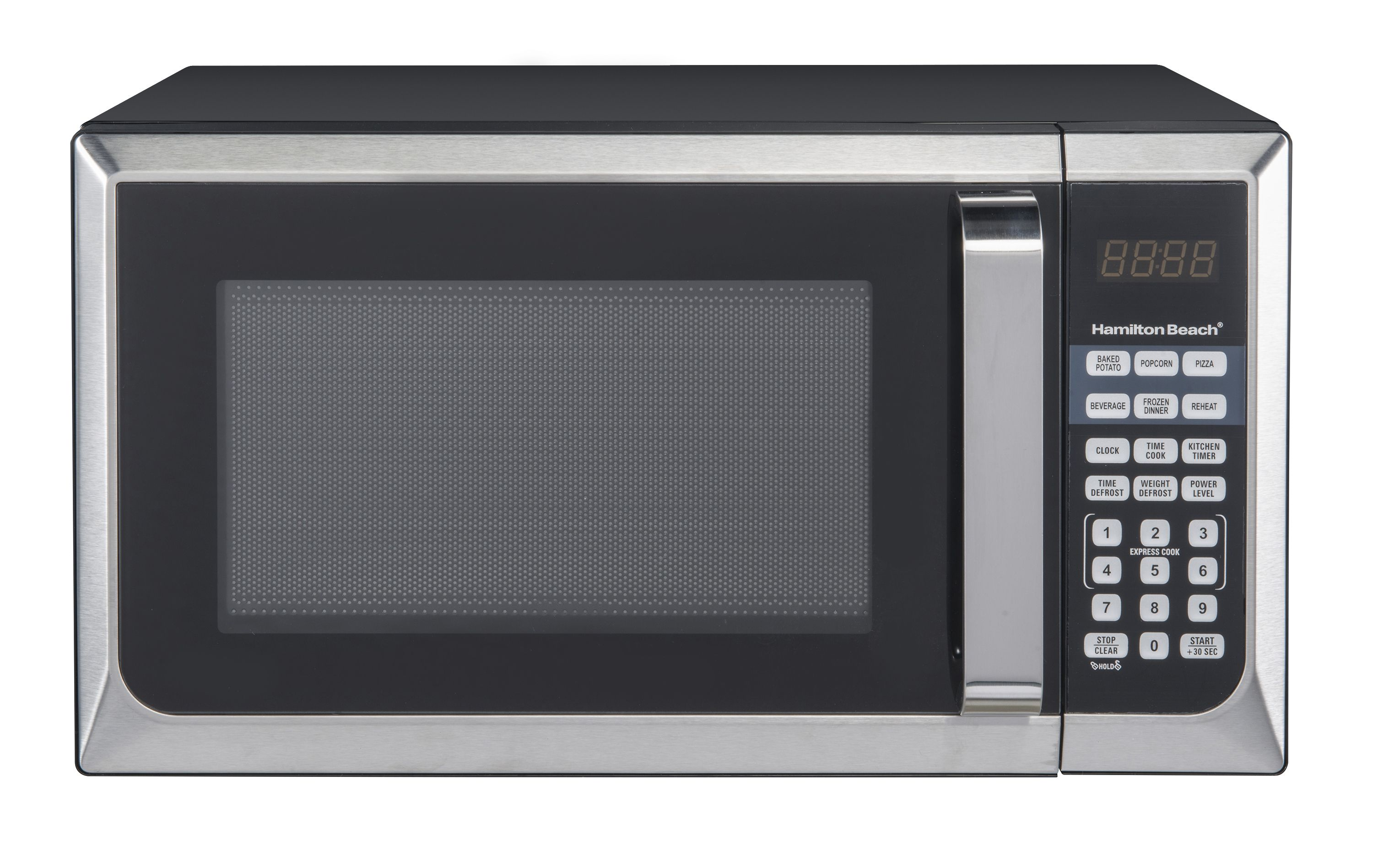 Mainstays 0 7 Cu Ft 700w Stainless Steel Microwave With 10 Power