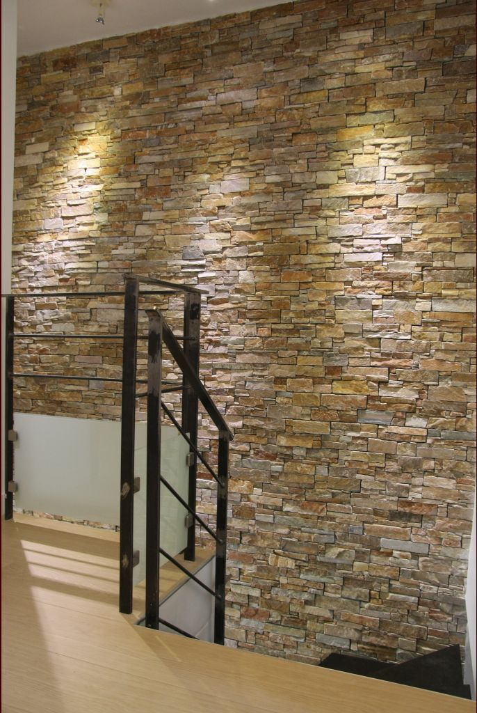 briquettes de parement deco salon pinterest salons stone cladding and cladding. Black Bedroom Furniture Sets. Home Design Ideas