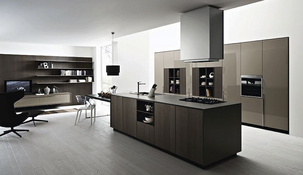 Modern Italian Kitchen Cabinets Simple Design Ipc445   Modern Italian  Kitchen Design Ideas   Al Habib Panel Doors