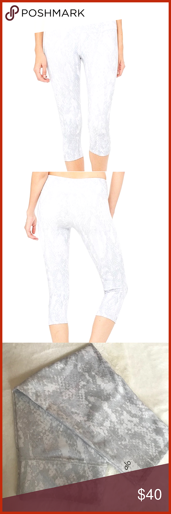 Alo Yoga Snakeskin Capri New No tag Never been used Alo Yoga Snakeskin Capri MidWaist Size S Feel free to contact me or make an offer ALO Yoga Alo Yoga Snakeskin Capri Ne...