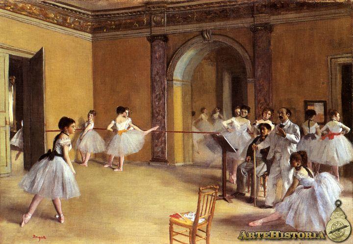 Clase De Danza Juego De Espejos Ensayo De Danza Instantáneo Capta Movimiento Capta El Tema Cotidiano Cierto Ai Edgar Degas Edgard Degas Pinturas De Degas