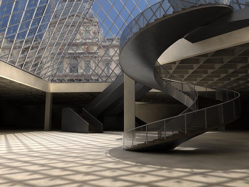3d model of pyramid louvre | Museums | Louvre, Model, Museum