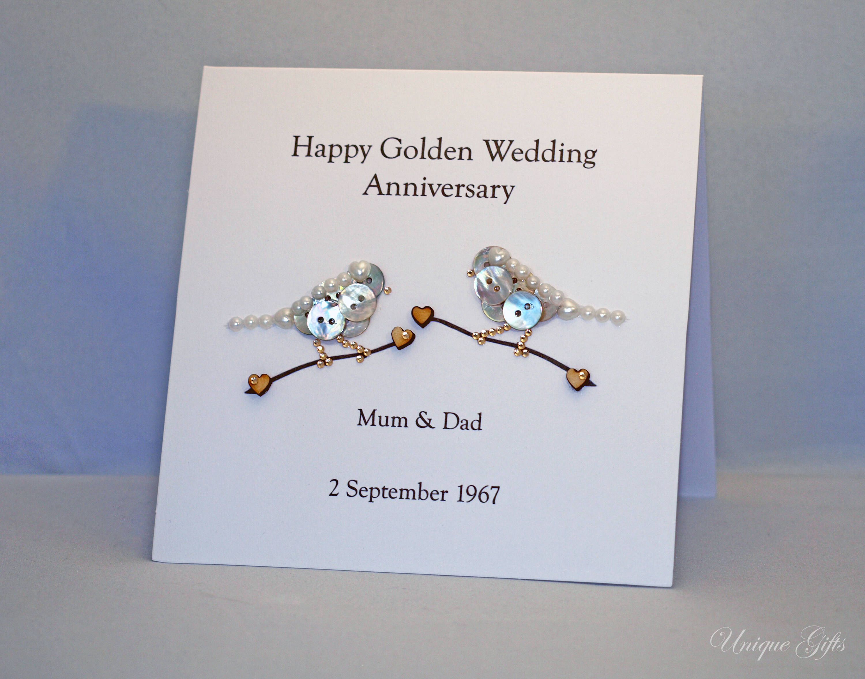 Unique Handmade Wedding Gifts: Wedding Card, Anniversary Card, Love Card, Button Art Card